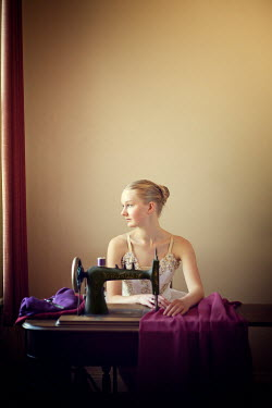 Mary Wethey DAYDREAMING BALLERINA WITH SEWING MACHINE Women