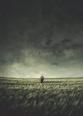 Michael Vincent Manalo BLURRED MAN IN STORMY FIELD Men