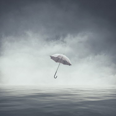 Michael Vincent Manalo FLOATING UMBRELLA ABOVE CALM SEA Miscellaneous Objects