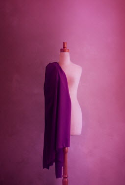 Mary Wethey DRESSMAKERS DUMMY WITH PURPLE FABRIC Miscellaneous Objects