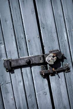 Benjamin Harte OLD WOODEN DOOR WITH PADLOCK Building Detail