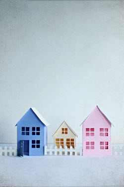 Jasenka Arbanas PINK WHITE AND BLUE PAPER HOUSES Miscellaneous Objects