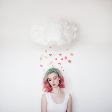 Jovana Rikalo GIRL WITH CLOUD AND FALLING PETALS Women