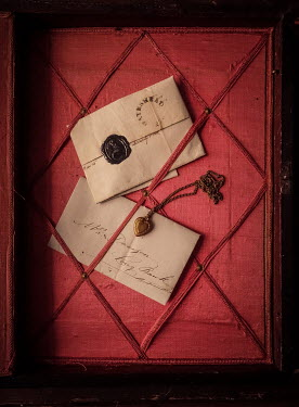 Jane Morley LETTERS AND LOCKET IN NOTICEBOARD Miscellaneous Objects