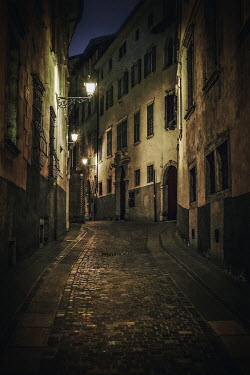Evelina Kremsdorf OLD ITALIAN STREET AT NIGHT Streets/Alleys