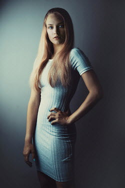 Ildiko Neer MODERN GIRL WOTH LONG BLONDE HAIR Women