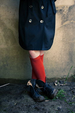 Robin Macmillan CHILD IN RED SOCKS AND MUDDY BOOTS Children