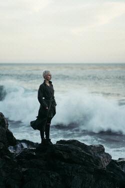 Lena Okuneva WOMAN LOOKING OUT TO SEA Women