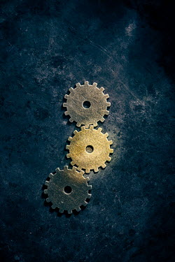 Andy & Michelle Kerry THREE BRASS COGS Miscellaneous Objects