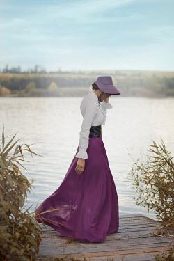 Ildiko Neer Historical woman dancing on jetty Women