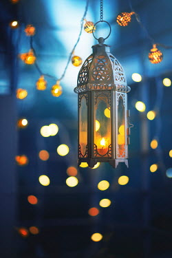 Ashraful Arefin LANTERN WITH FAIRY LIGHTS AT NIGHT Miscellaneous Objects