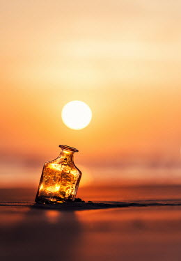 Ashraful Arefin BOTTLE ON BEACH AT SUNSET Miscellaneous Objects