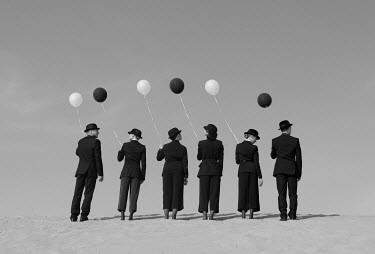 Svitozar Bilorusov SURREAL GROUP WITH BALLOONS AND HATS Groups/Crowds