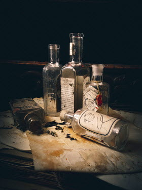 Jane Morley OLD EMPTY MEDICINE BOTTLES Miscellaneous Objects