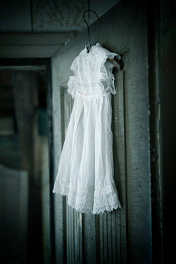 Carmen Spitznagel SMALL WHITE DRESS ON COAT HANGER Miscellaneous Objects