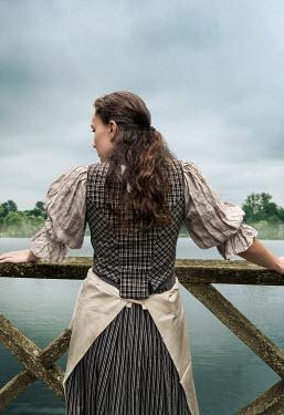Stephen Mulcahey maid looking over lake Women