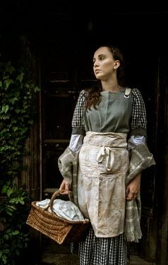 Stephen Mulcahey A poor maid  standing in a doorway Women