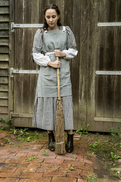 Stephen Mulcahey A maid with a broom Women