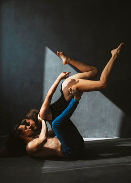 Marta Syrko PASSIONATE COUPLE DANCING IN SHADOWS Couples
