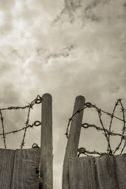 Benjamin Harte BARBED WIRE ON FENCE Gates
