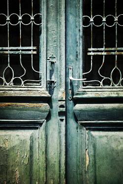 Irene Lamprakou CLOSE UP OF GREEN WEATHERED DOOR Building Detail