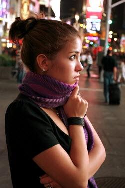 ILINA SIMEONOVA GIRL IN CITY AT NIGHT Women