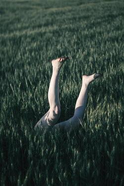 Magdalena Russocka FEMALE LEGS IN WHEAT FIELD Women
