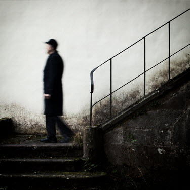 Manuela Deigert OLD MAN NEAR OLD STONE STEPS Men