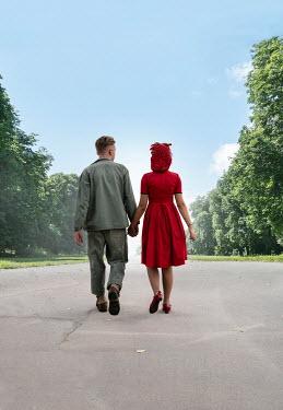 Stephen Mulcahey A ww2 couple walking along a path Couples