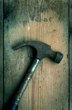 Trevor Payne RUSTING HAMMER ON WOODEN FLOORBOARDS Miscellaneous Objects