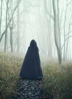 Mark Owen HISTORICAL WOMAN ON TREE LINED FOOTPATH Women