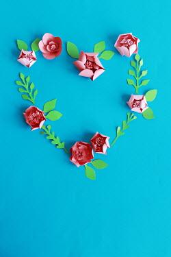 Jasenka Arbanas PINK PAPER FLOWERS IN HEART-SHAPE Miscellaneous Objects