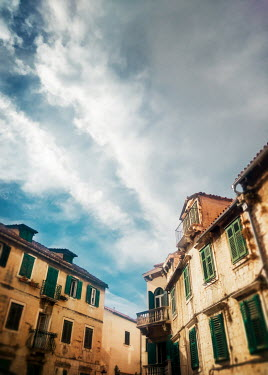 Kyle Stubbs OLD EUROPEAN HOUSES WITH BLUE SKY Houses