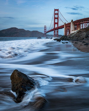 Paul Sheen GOLDEN GATE BRIDGE WITH FOAMY WATER Miscellaneous Cities/Towns