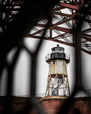 Paul Sheen WEATHERED LIGHTHOUSE BY BRIDGE Miscellaneous Buildings