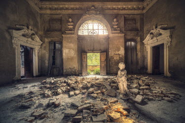Christophe Dessaigne INTERIOR OF GRAND BUILDING WITH RUBBLE Interiors/Rooms