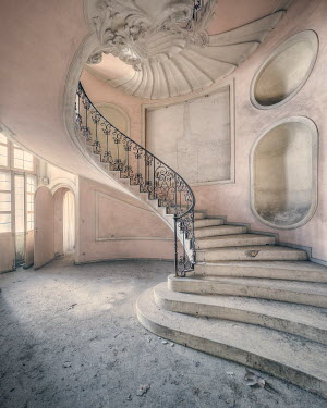 Christophe Dessaigne STAIRCASE IN DESERTED GRAND BUILDING Stairs/Steps