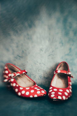 Des Panteva CLOSE UP OF RED SPOTTY SHOES Miscellaneous Objects