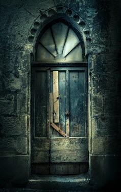 Jane Morley BROKEN OLD DOOR IN STONE BUILDING Building Detail