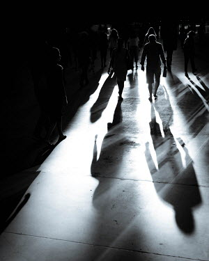 Paul Sheen PEOPLE IN CITY WALKING WITH SHADOWS Groups/Crowds