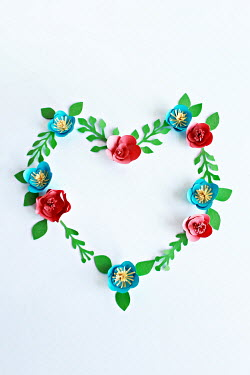 Jasenka Arbanas HEART SHAPE OF PAPER FLOWERS Miscellaneous Objects