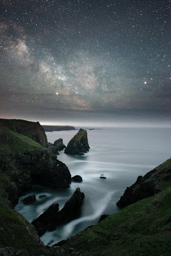 Ollie Taylor ROCKY COAST WITH STARRY SKY Seascapes/Beaches
