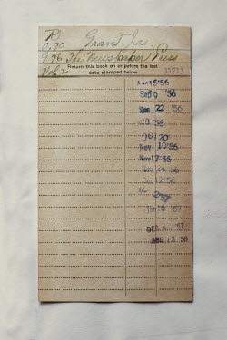 Robin Macmillan RETURN SHEET FOR OLD LIBRARY BOOK Miscellaneous Objects