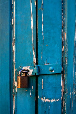 Benjamin Harte PADLOCK ON BLUE DOOR Miscellaneous Objects
