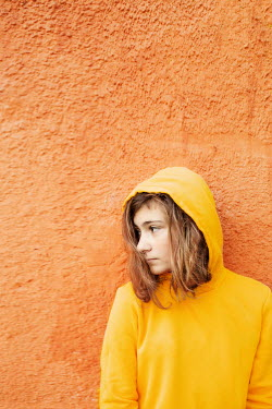 Svetoslava Madarova YOUNG WOMAN IN YELLOW HOODED TOP Women
