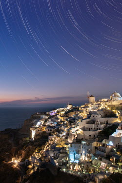 Ollie Taylor Star Trails over Santorini