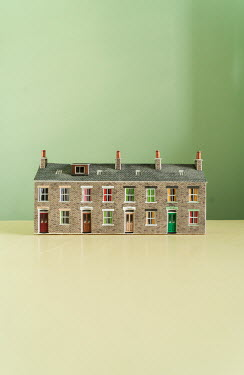 Stephen Mulcahey MODEL OF TERRACED HOUSES Miscellaneous Objects