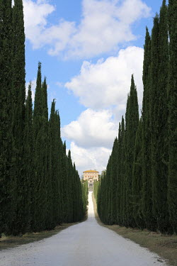 Giovan Battista D'Achille ROAD LEADING TO ITALIAN COUNTRY HOUSE Houses
