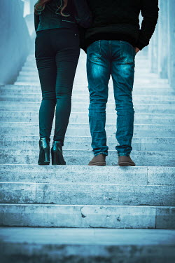 Ildiko Neer modern couple standing on steps Couples