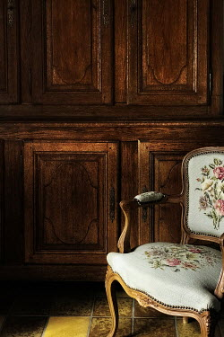 Maria Petkova TAPESTRY CHAIR BY WOODEN DRESSER Interiors/Rooms